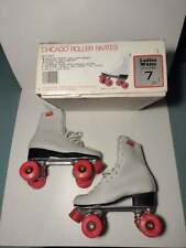 VINTAGE CHICAGO WOMENS ROLLER SKATES /w BOX !! (SIZE 7)