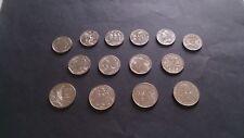 14 monnaies * Vème république * Commémoration 5/2/1 francs