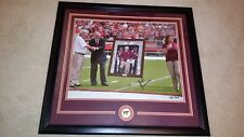 FRANK BEAMER VIRGINIA TECH HOKIES SIGNED FRAMED 16X20 # 7/10 HONORED 25th SEASON