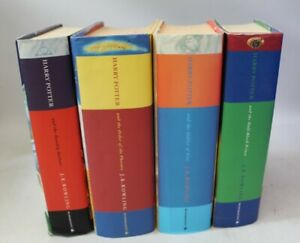 Collection Of 4 HARRY POTTER 1st Edition Hardback Books