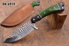"""9.4""""KMA Handmade 1095 steel full tang mirror polish Skinner blade knife 6919"""