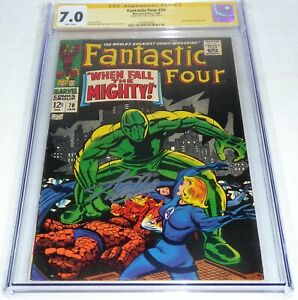 Fantastic Four #70 CGC SS Signature Autograph STAN LEE Mad Thinker Appearance