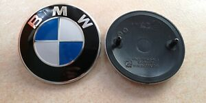 LOGO BMW fregio Badge stemma 82 mm. cofano baule
