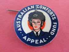 Australian Comforts Fund Apeal WW2 Badge Woman in Uniform