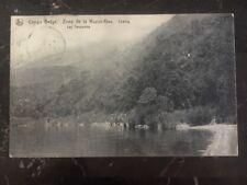 1914 Belgian Congo Real Picture Postcard Cover Rppc Tanganika Lake To South Wale