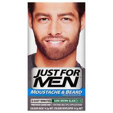 Just for Men Moustache and Beard Dye Facial Hair GEL Dark Brown Black