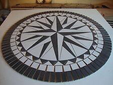 Rosace, Mosaique en carrelage Diamètre  90 cm  Rose des Vents