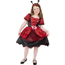 Childrens Fancy Dress Girls Lady Bug Ladybird Costume M 7-9 Years New Smiffys