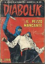 DIABOLIK anno XI n° 20 (Astorina, 1972)