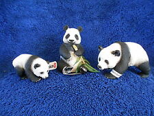 PANDA BEARS & CUB by Schleich; toy/bears/14706, 14707, 14664/pandas/RETIRED