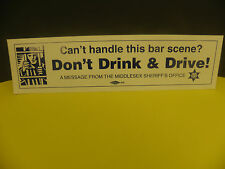 DON'T DRINK AND DRIVE - SHERIFF'S OFFICE BUMPER STICKER