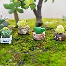 Moss Micro Landscape Ornaments Love Pot Plant Mix Size Fairy Garden Decor CraftF