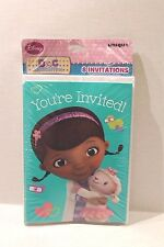 Disney Doc McStuffins Birthday Party Invitations & Envelopes Package of 8