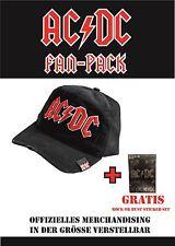 ACDC Cap Basecap used Look schwarz rotes Logo *NEU* +Sticker Set Rock or Bust