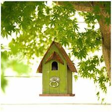 "10"" H Rustic Wooden Bird House Garden Distressed Decorati"