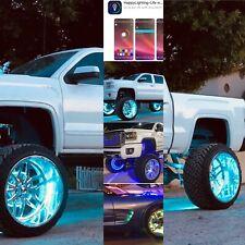 """15.5"""" BLUETOOTH RGB Color-Change LED Wheel Ring Light KIT 4pcs SET"""