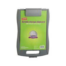 Staples Portable Storage Clipboard Gray 9-1/2