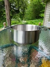ALL CLAD brushed stainless 16qt COMMERCIAL professional RONDEAU PAN 1st NIB