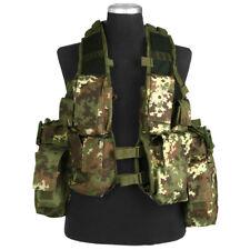 Tactical Combat Patrol Assault Vest Adjustable Airsoft Vegetato Woodland Camo