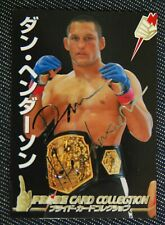 JAPAN PRIDE CARD GP EDITION Dan Henderson GOLD AUTO  UFCMMA