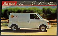 1989 Chevrolet Astro Van Truck Postcard Brochure Excellent Original 89
