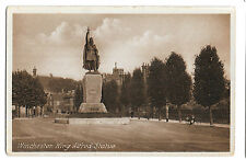 King Alfred Statue Winchester PPC Unused, by B Pentelow, 153 High St, Winchester