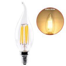 LED Filament Candle Light Bulb E14 220V 2W,4W,6W C35 Cold White Warm Lamp 2W