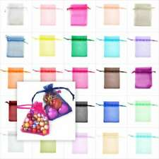25Pcs ORGANZA Wedding Favour GIFT BAGS Jewellery Candy Pouches 26 Colors&7 Sizes