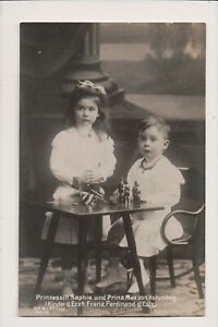 Carte Postale Vintage Prince Max & Princesse Sophie De Hohenberg Enfants Franz