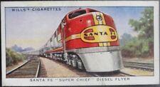 Single: No.33 SANTA FE SUPER CHIEF DIESEL FLYER - SPEED - Wills Ltd 1938