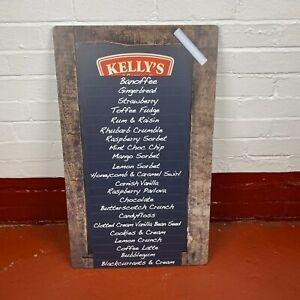 Kellys of Cornwall Ice Cream Magnetic Blackboard Menu Message Wall Display Sign