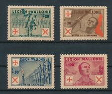 GERMANY (1942) BELGIUM WALLONIE VOLUNTARY LEGION COMPL SET; MLH