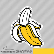 Emblema De Plátano Gracioso Pegatina de Vinilo Calcomanía ventana coche furgoneta bicicleta 2001