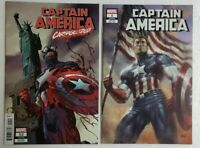 🔥🔥 CAPTAIN AMERICA 2 COMIC LOT #1 PARRILLO VARIANT & #12 CARNAGIZED HIGH GRADE