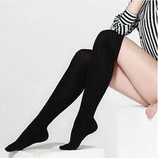Over The Knee Thigh High Cotton Socks Stockings Leggings Women Ladies Girls GU
