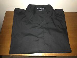 Henry Bucks Shirt - Black - Made in Australia - Medium 14.5 Inch Collar