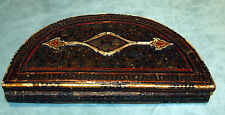 QAJAR DYNASTY FINE & RARE INLAID WOOD & WHITE CARVED MIRROR GORGEOUS DESIG C1850
