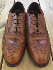 VINTAGE SAXONE REGENT STREET BROWN LEATHER WINGTIPS BROGUES UK 10 SCOTLAND LACES