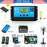 30-60A PWM Solar Panel Regulator Battery Charger Controller 12/24V With LCD USB