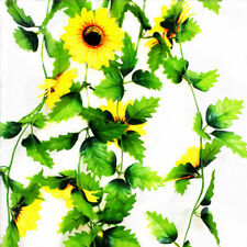 230cmSilk Sunflower Ivy Artificial Flower Leave Hanging Fake Living Modern Decor