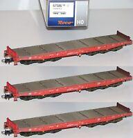 Roco H0 67586-OS Schwerlastwagen der DB AG ohne Ladung (3 Stück) - NEU + OVP