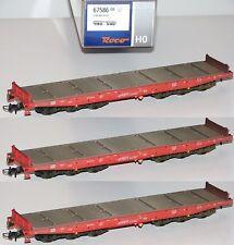 ROCO H0 67586-os vehículos pesados de DB AG SIN CARGA (3 pieza) -NUEVO+emb.orig