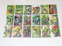2003 THE INCREDIBLE HULK TOPPS BASE CARD SET OF 72 MARVEL! ART AVENGERS ENDGAME!