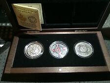 2015 -  $25 Fine Silver 3 Coins Set Singing Moon Mask Canada Ultra-High Relief