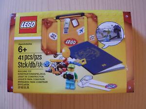 LEGO® (5004932) Reisekoffer mit blauen Passport Travel Building Suitcase Neu&Ovp
