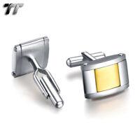 Top Quality TT 316L Stainless Steel  Two Tone Cufflinks (CU12)