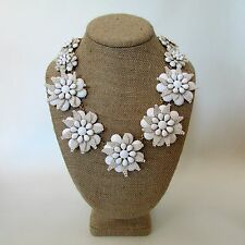J.Crew STAR FLORAL Necklace~*~G6836~*~White ~Exquisite~NWT
