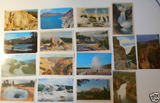 LOT OF 16  YELLOWSTONE NATIONAL PARK WY   VINTAGE POSTCARDS  UNPOSTMARKED