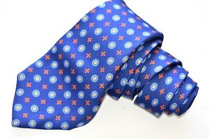 "AUTHENTIC KITON NAPOLI FLORAL/BLUE Men's Neck Tie W:3 3/4"" by L:60"""