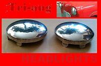 Tri-ang  Vintage Pedal Car Metal Headlights Pair